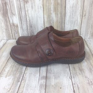 Womens Born concept boc 6 brown leather shoes